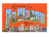 Greetings from Fort Worth, Texas Print