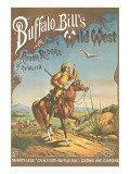 Buffalo Bill's Wild West Show Poster, Scout on Horse Photo