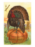 Greetings, Turkey on Pumpkin Prints