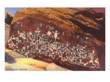 Southwest Indian Petroglyphs Poster