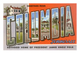 Greetings from Columbia, Tennessee Prints