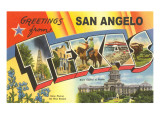 Greetings from San Angelo, Texas Posters