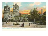 Mission Concepcion, San Antonio, Texas Posters