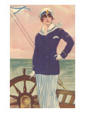 Stylish Sailor Girl by Tiller Posters