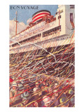 Bon Voyage, Ocean Liner Disembarking Prints