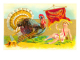 Greetings, Turkey and Cupid Poster