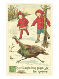 Children Encountering Turkey Prints