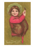 Victorian Girl with Turkey Posters