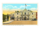 Alamo and Courtyard, San Antonio, Texas Prints