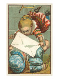Victorian Children on Breaking Rope Ladder Prints