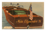 Speedboat with Skipper Prints