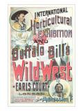 Buffalo Bill's Wild West Show Poster, England - Reprodüksiyon
