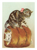 Victorian Cats in Muff Prints