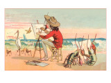 Painter on the Beach, Lobster Critics Poster