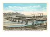 Railway Bridge over Rio Grande, El Paso, Texas Prints