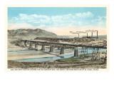 Railway Bridge over Rio Grande, El Paso, Texas Prints