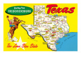 Greetings from Fredricksburg, Texas Posters