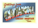 Greetings from Chattanooga, Tennessee Print