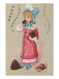 Young Girl Eating Chocolate Posters