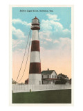 Bolivar Lighthouse, Galveston, Texas Prints