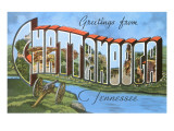 Greetings from Chattanooga, Tennessee Prints