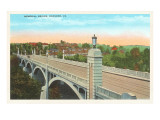 Memorial Bridge, Roanoke, Virginia Prints