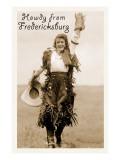 Howdy from Fredricksburg, Texas Affiches