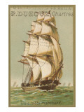 Three-Masted Merchant Ship Posters