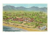 Biltmore Hotel, Santa Barbara, California Poster