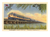 Humming Bird Train Crossing Great Salt Lake Prints