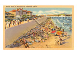 Beach Scene, Galveston, Texas Prints