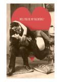 Passionate Valentine Embrace Print