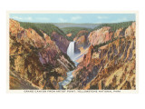 Grand Canyon from Artist Point, Yellowstone National Park Print