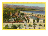 Municipal Swimming Pool, Santa Barbara, California Prints