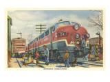 Christmas Homecoming, Train at Station Art