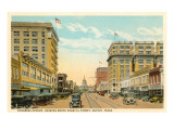 Congress Avenue, Austin, Texas Poster