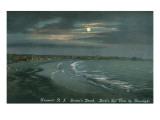 Moon over Newport, Rhode Island Kunstdrucke