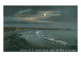Moon over Newport, Rhode Island Prints