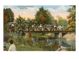 Bridge in Horlick Park, Racine, Wisconsin Posters