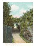 Tunnel in Cliff Walk, Newport, Rhode Island Kunst