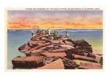 Fishing and Crabbing, Galveston, Texas Poster
