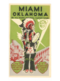 Miami, Oklahoma Travel Poster, Plains Indian, Route 66 Prints