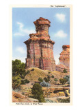 The Lighthouse Rock, Palo Duro Park, Texas Prints