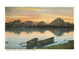 Jackson Lake and Tetons, Wyoming Poster