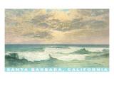 Waves at Santa Barbara, California Posters