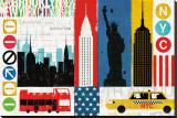 New York City Experience Reproduction transférée sur toile par Mo Mullan