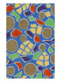 Brightly Colored Mosaic Pattern Prints