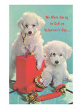 Valentine Poodles with Telephone Prints