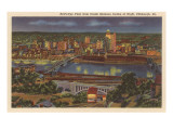 Night, Downtown Pittsburgh, Pennsylvania Prints