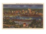 Night, Downtown Pittsburgh, Pennsylvania Prints